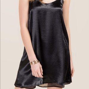 Satin black dress